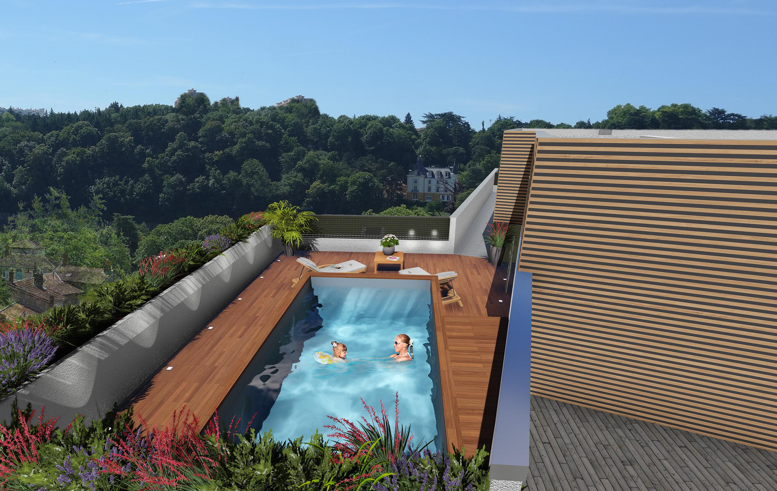 Appartement avec piscine à Lyon, quartier de Saint-Rambert