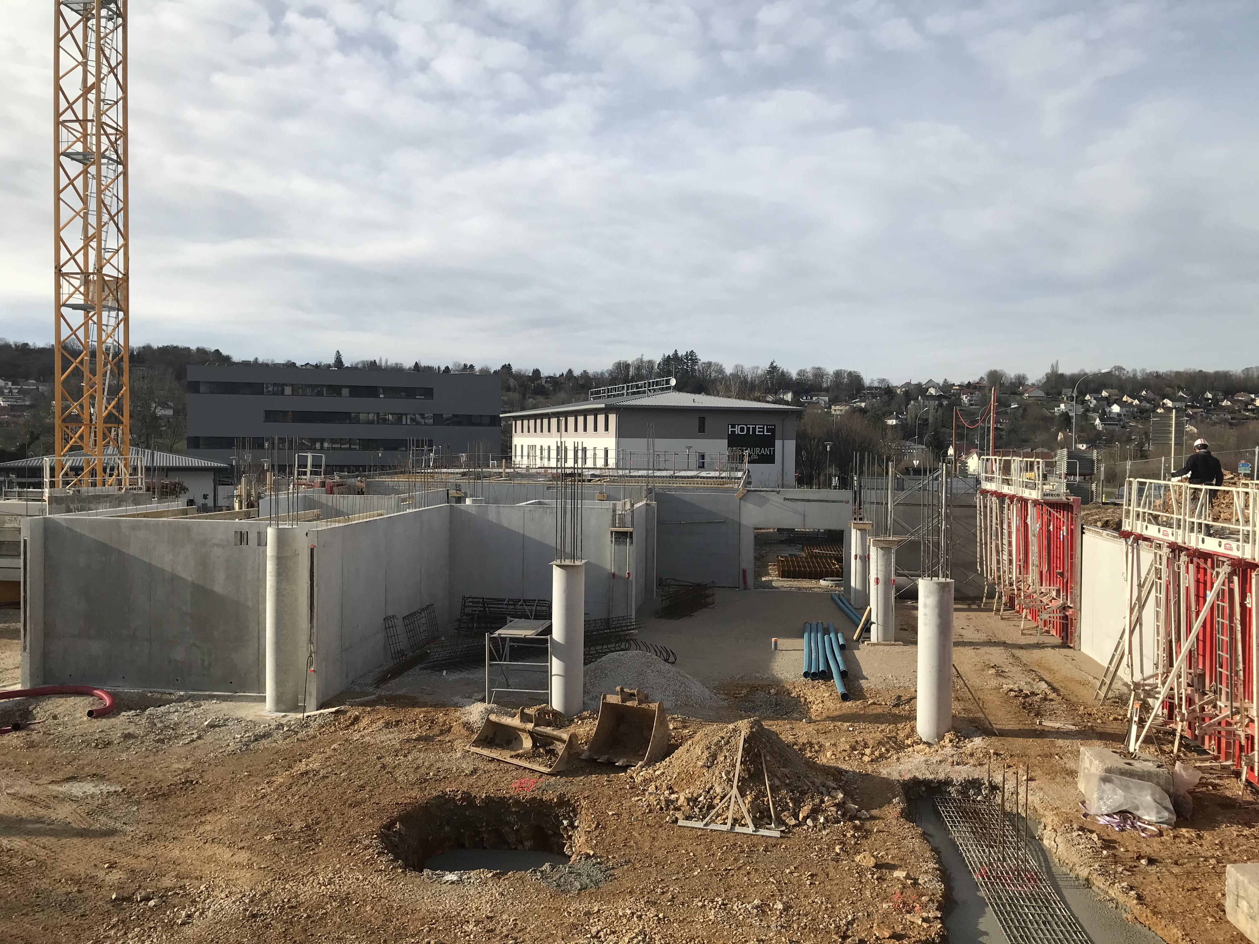 Le chantier Témis à Besançon