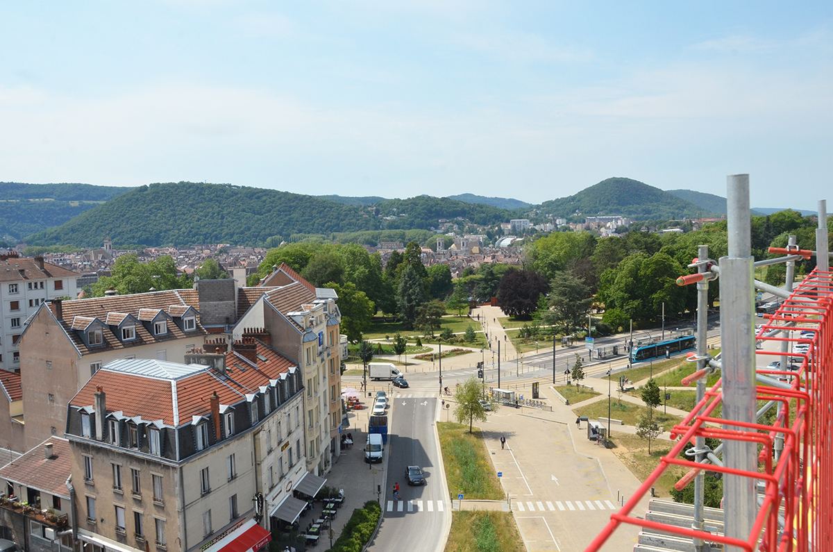 Vue imprenable sur Besançon