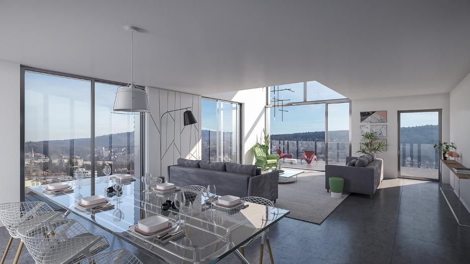 Découvrez notre superbe appartement neuf en duplex à Viotte 360
