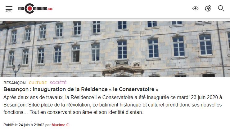 Article SMCI Le Conservatoire