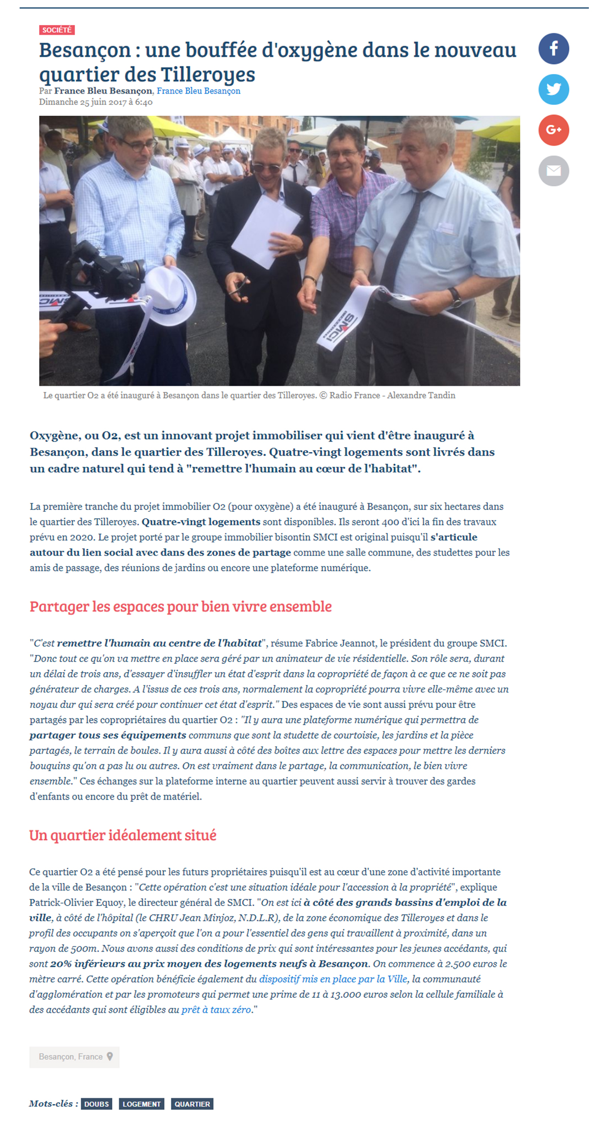Article France Bleu Portes Ouvertes Tilleroyes