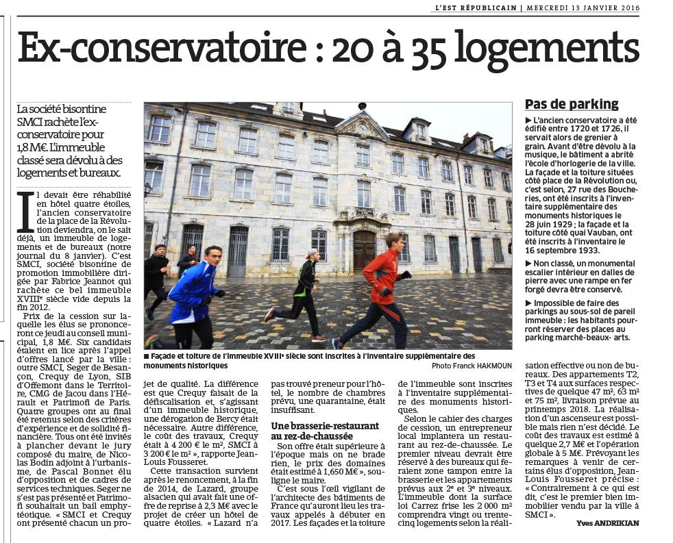 Ex-Conservatoire : 20 à 35 logements