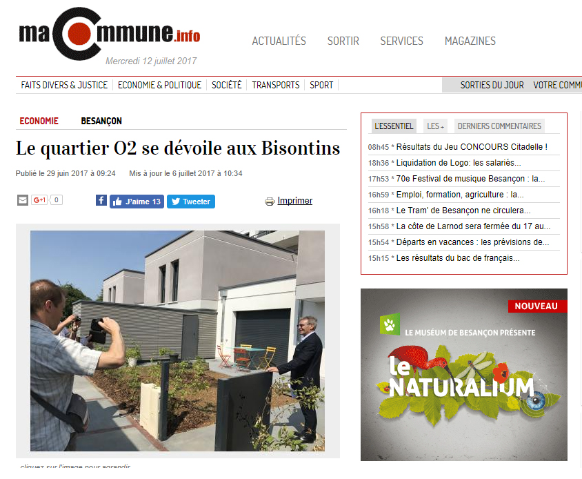 Article Quartier O2 SMCI Macommune.info