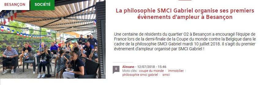 macommune.info - La philosophie SMCI Gabriel organise ses premiers événements d'ampleur à Besançon