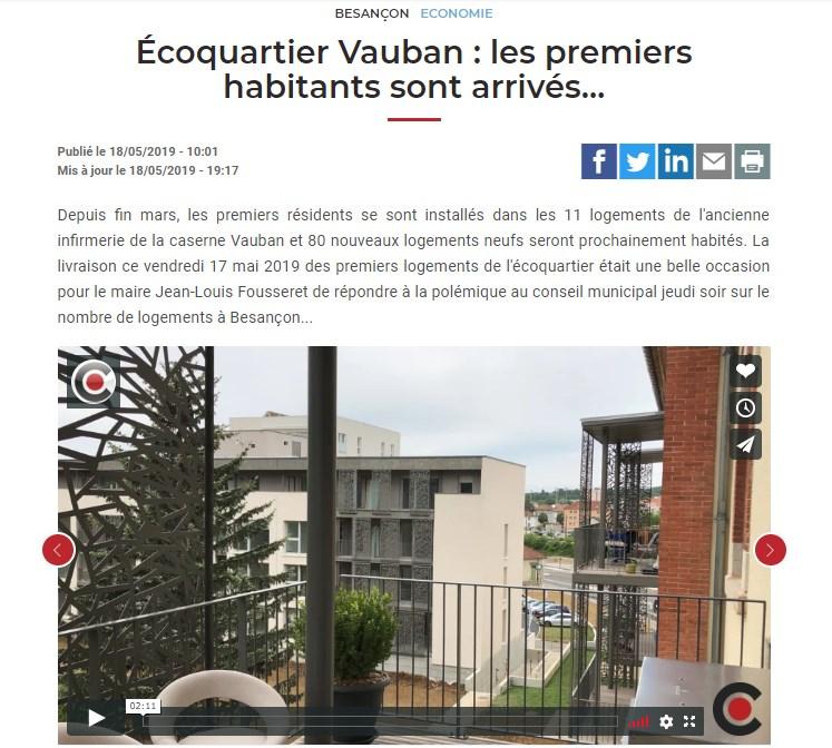 Ecoquartier Vauban : les premiers habitants sont arrivés...