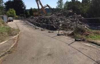 La démolition se poursuit sur le futur site de la résidence Oh!