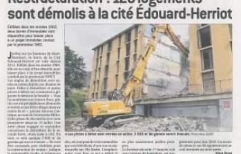 Article : Démolition sur le futur site de la résidence Oh Saint-Rambert