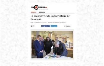 Article/ vidéo : La seconde vie du Conservatoire de Besançon